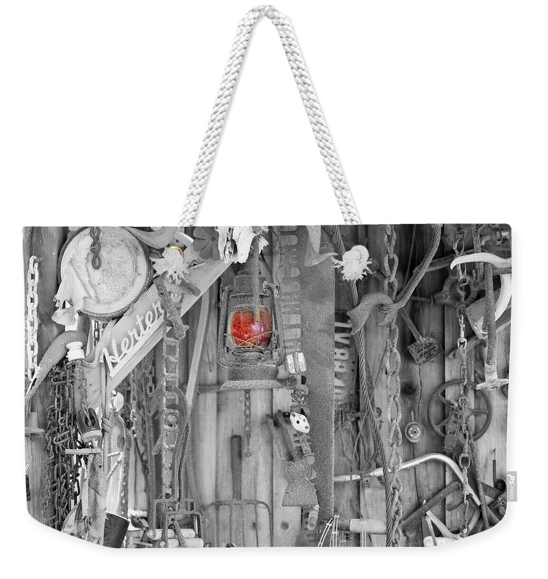 Rust Weekender Tote Bag featuring the photograph The Red Lantern by Marnie Patchett