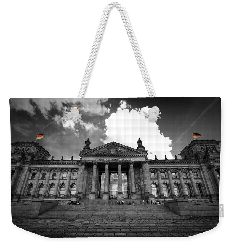 Berlin Weekender Tote Bag featuring the digital art The Reichstag  by Nathan Wright