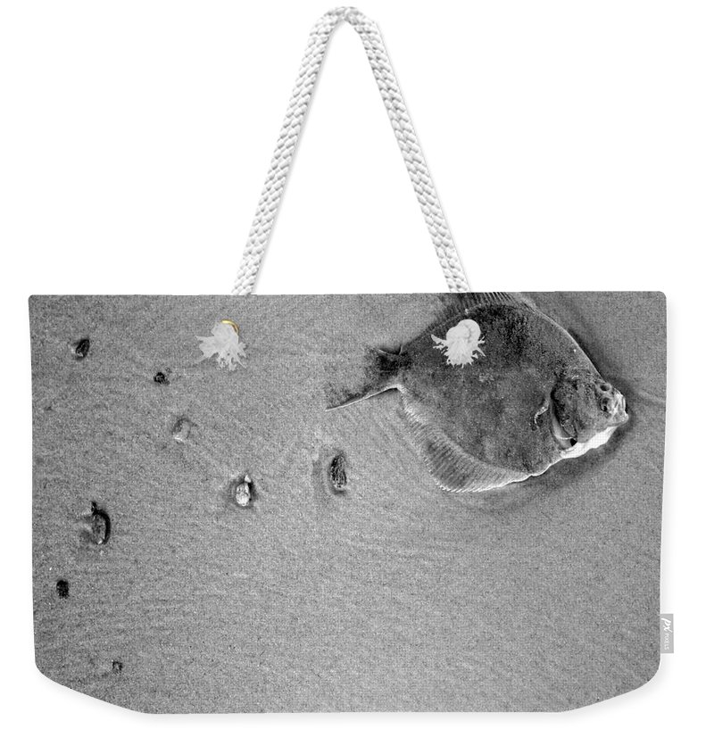 Fish Weekender Tote Bag featuring the photograph The Relief by Angel Ciesniarska