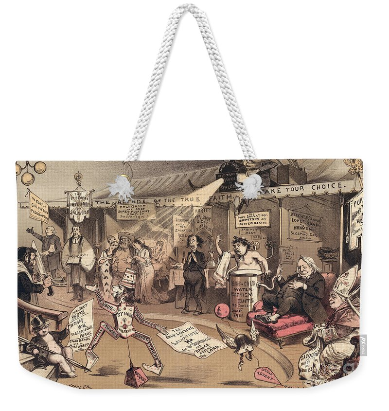 1879 Weekender Tote Bag featuring the photograph The Religious Vanity Fair by Granger