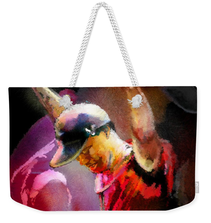 Tiger Woods Weekender Tote Bag featuring the painting The Return Of The Tiger 04 - The Eagle by Miki De Goodaboom