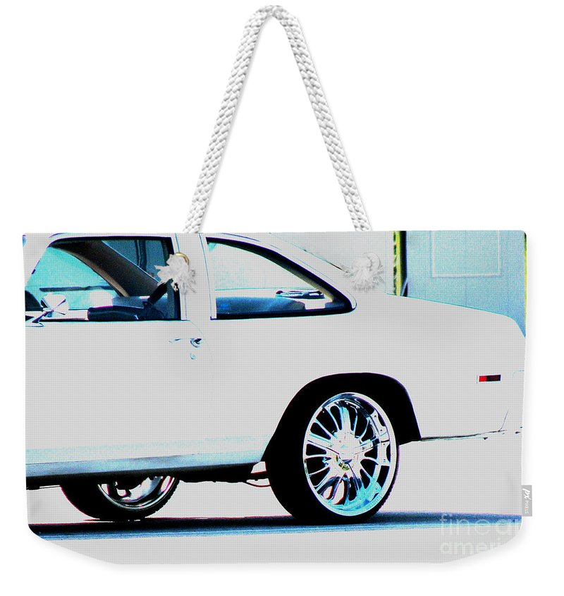 Car Weekender Tote Bag featuring the photograph The Ride by Amanda Barcon