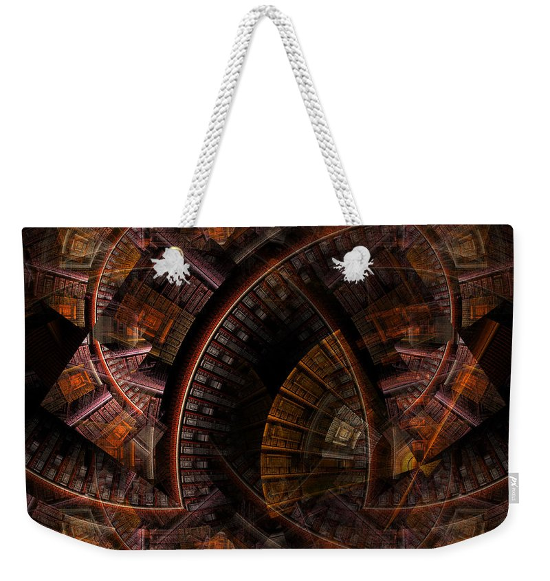 Refuge Weekender Tote Bag featuring the digital art The Right Of Sanctuary by NirvanaBlues