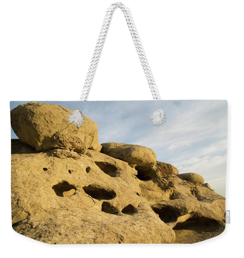 Billings Weekender Tote Bag featuring the photograph The Rims At Sunset by Teresa Otto