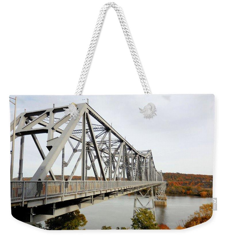 The Rip Van Winkle Bridge Weekender Tote Bag featuring the photograph The Rip Van Winkle Bridge 4 by Jeelan Clark