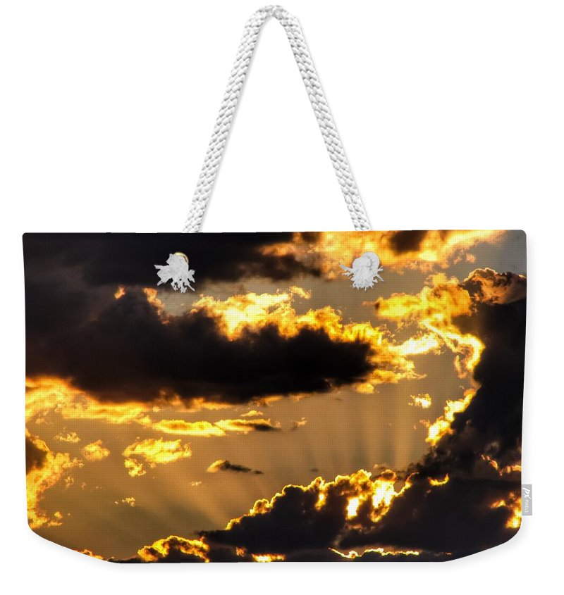 Rising Weekender Tote Bag featuring the photograph The Rising Of The Setting Sun by LeAnne Perry