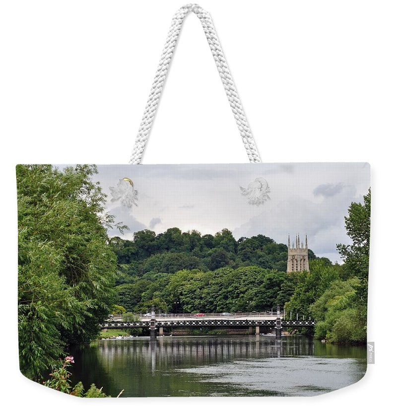 Europe Weekender Tote Bag featuring the photograph The River And Bridges At Burton On Trent by Rod Johnson