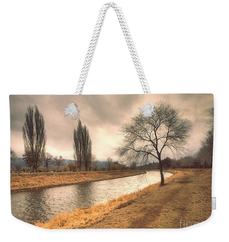 Channel Weekender Tote Bag featuring the photograph The River Channel In January by Tara Turner