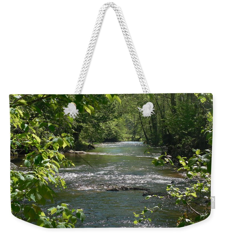 River Weekender Tote Bag featuring the photograph The River In Spring by Mike Niday