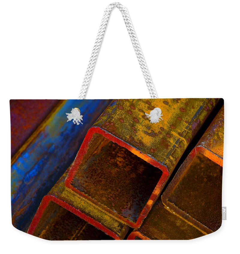 Abstract Weekender Tote Bag featuring the photograph The River by Skip Hunt