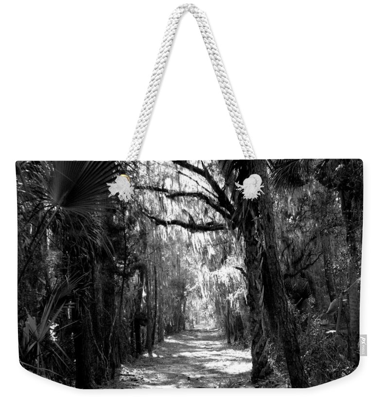 Trees Weekender Tote Bag featuring the photograph The Road Less Traveled by J M Farris Photography