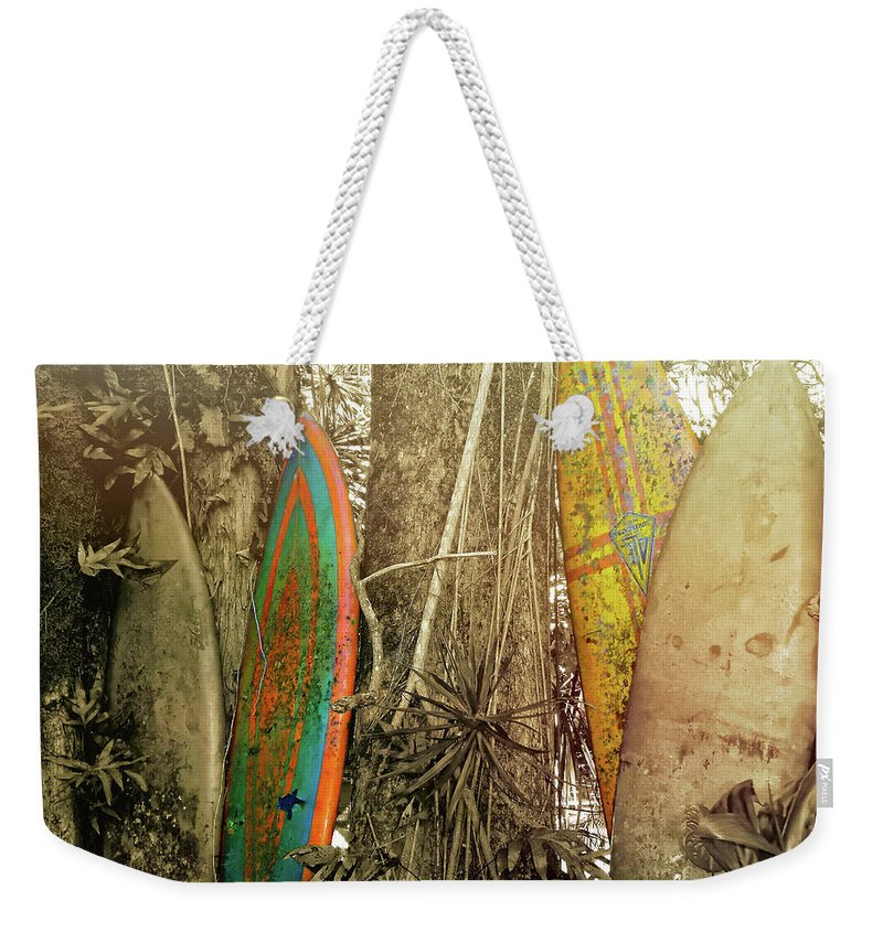 Surfboard Weekender Tote Bag featuring the photograph The Road To Hana by JAMART Photography