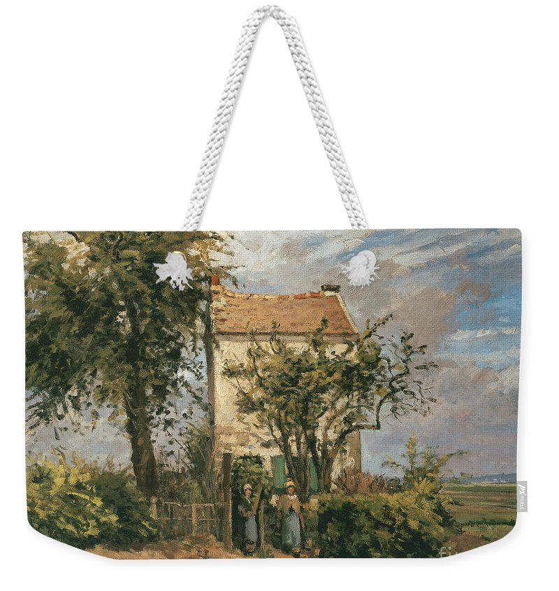 Road Weekender Tote Bag featuring the painting The Road To Rueil by Camille Pissarro