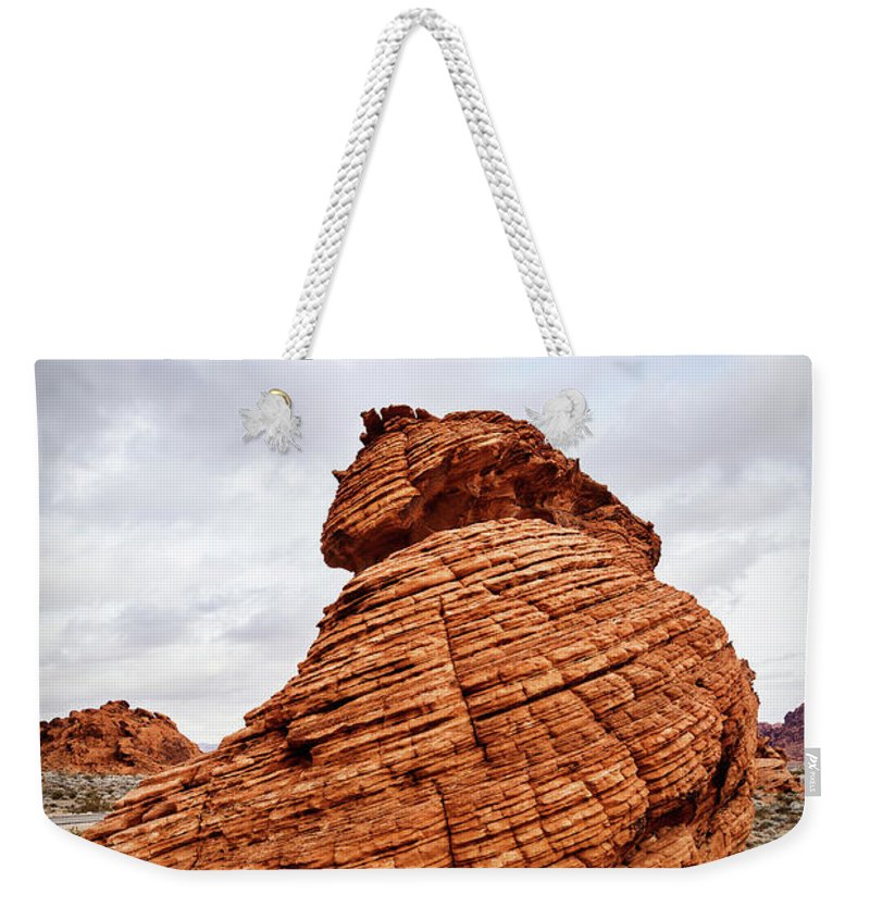 Evgeniya Lystsova Weekender Tote Bag featuring the photograph The Rock by Evgeniya Lystsova