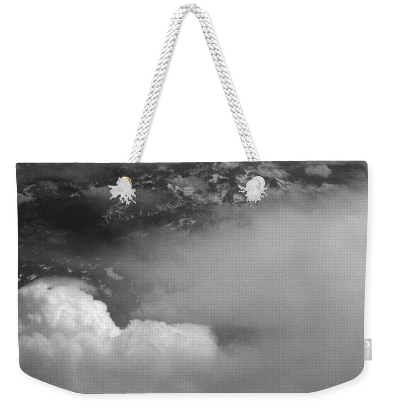 Aerial Photography Weekender Tote Bag featuring the photograph The Rockies by Richard Rizzo