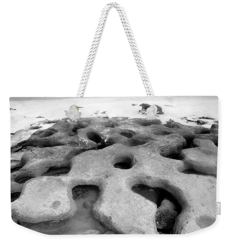 Florida Weekender Tote Bag featuring the photograph The Rocks by David Lee Thompson