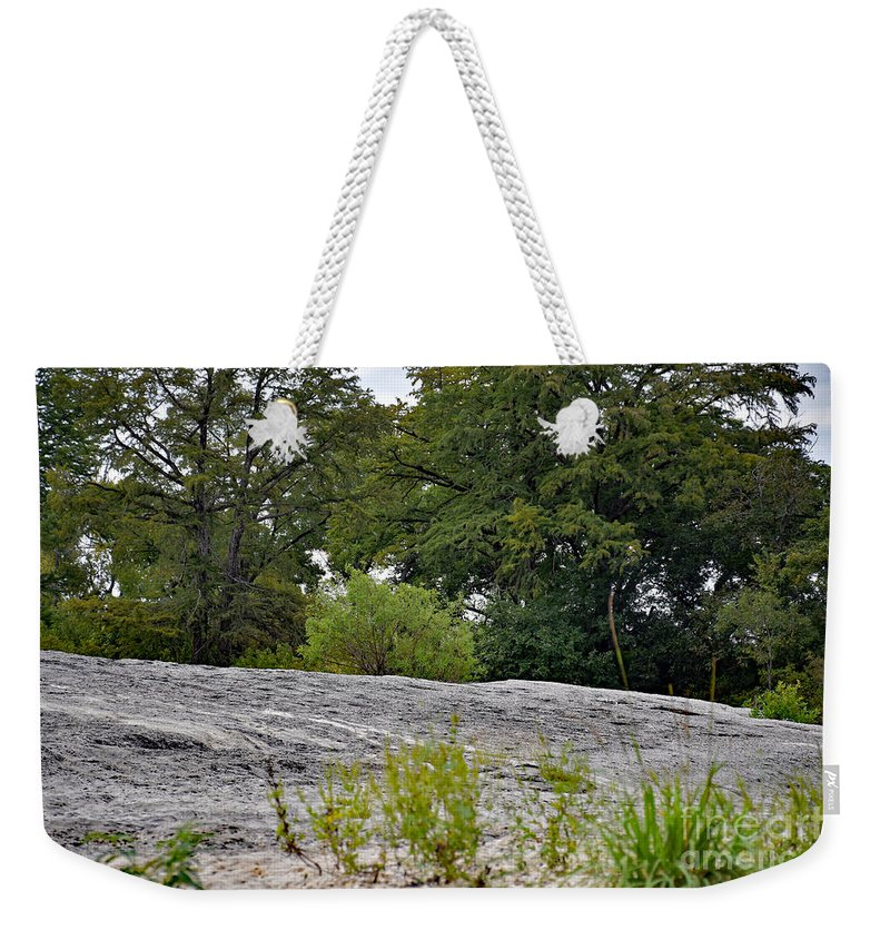 Rocky Weekender Tote Bag featuring the photograph The Rocky Limestone Climb by Ray Shrewsberry