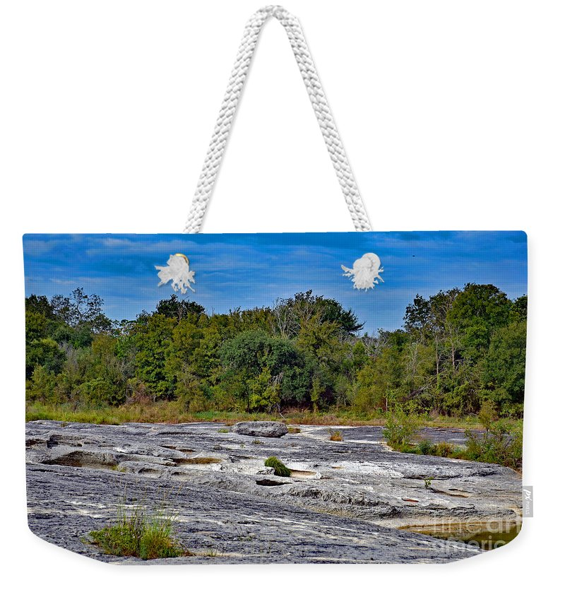 Rocky Weekender Tote Bag featuring the photograph The Rocky Limestone Trail by Ray Shrewsberry
