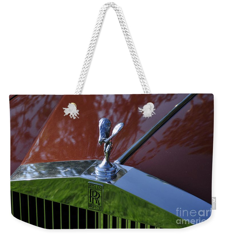 Clay Weekender Tote Bag featuring the photograph The Rolls by Clayton Bruster