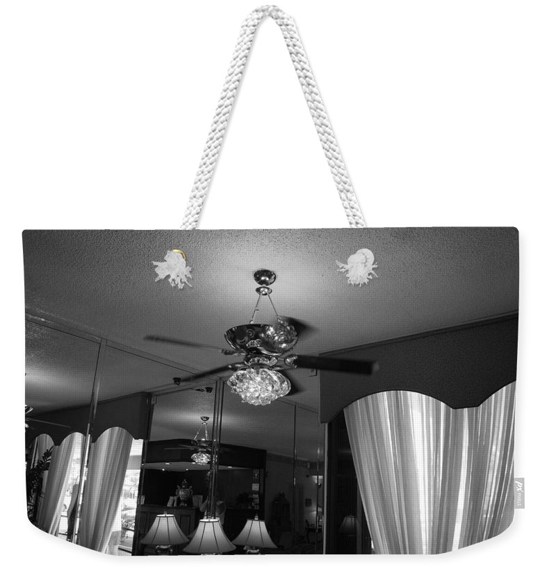 Black And White Weekender Tote Bag featuring the photograph The Room With Many Views by Rob Hans