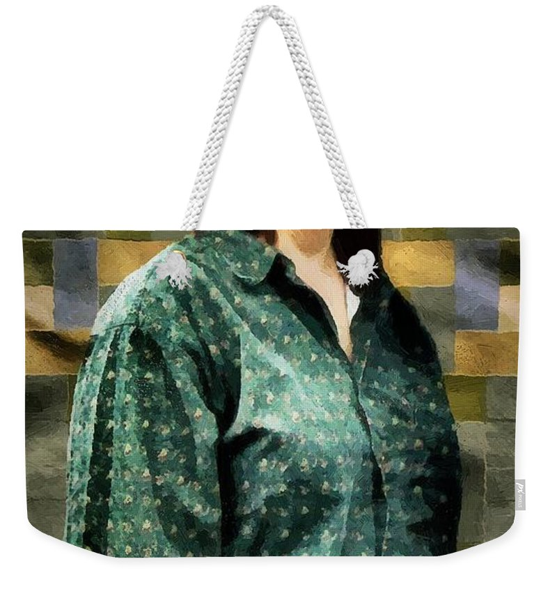 Artisan Weekender Tote Bag featuring the painting The Rugmaker by RC DeWinter