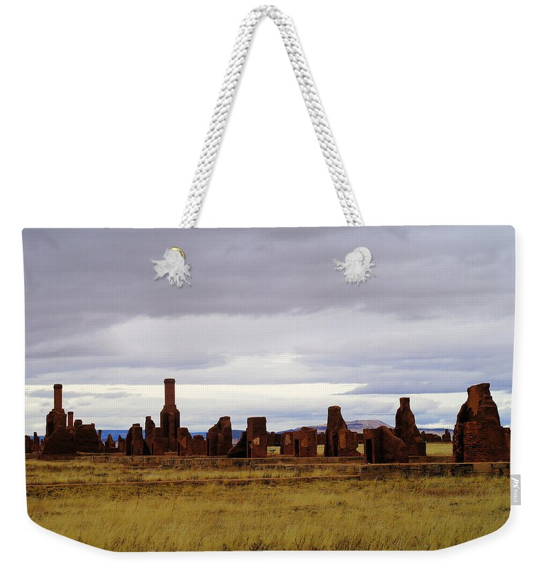 New Mexico Weekender Tote Bag featuring the photograph The Ruins Of Fort Union by Jeff Swan