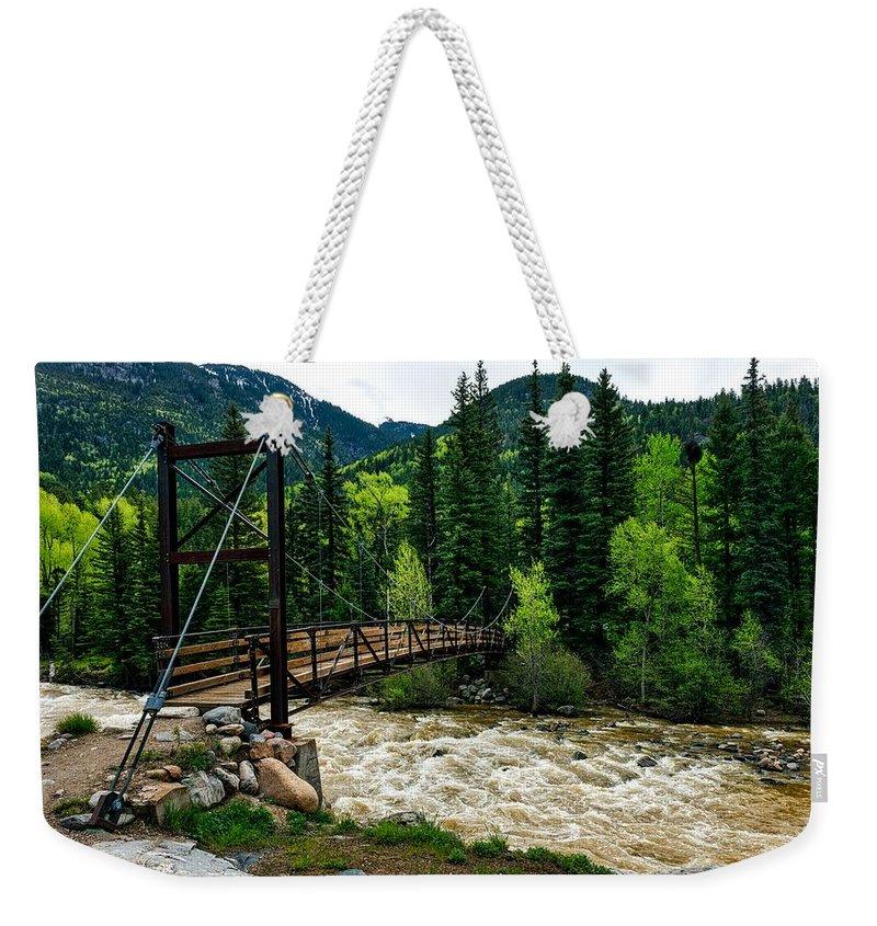 Animas River Weekender Tote Bag featuring the photograph The Rushing Animas River - Colorado by Mountain Dreams