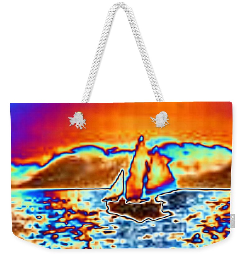 Sail Weekender Tote Bag featuring the digital art The Sail by Tim Allen