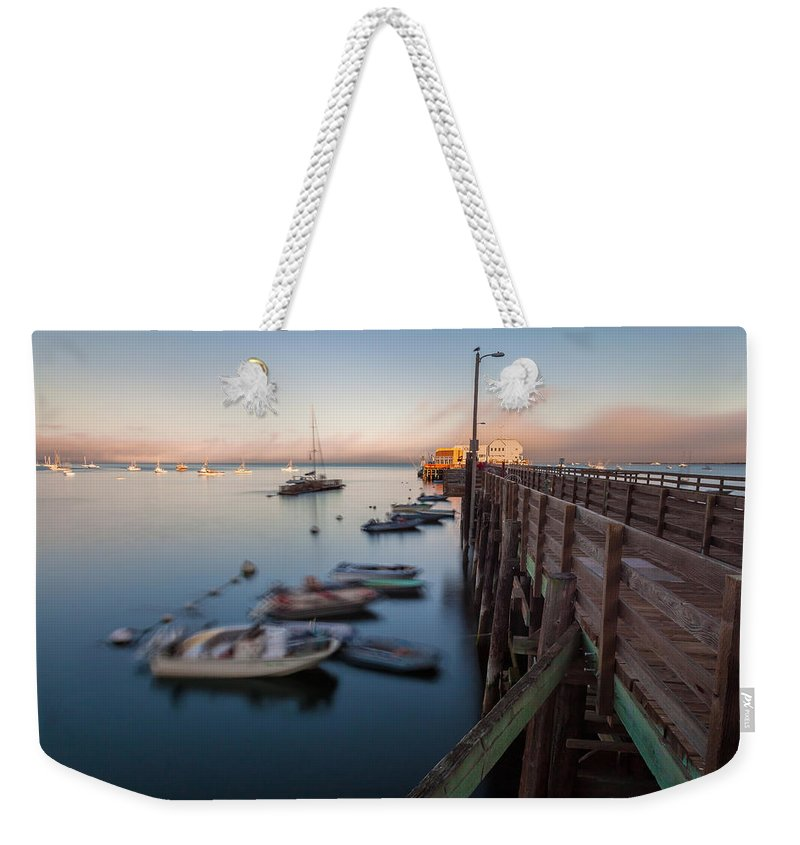 San Luis Opisbo Weekender Tote Bag featuring the photograph The San Luis Pier by Jonathan Nguyen
