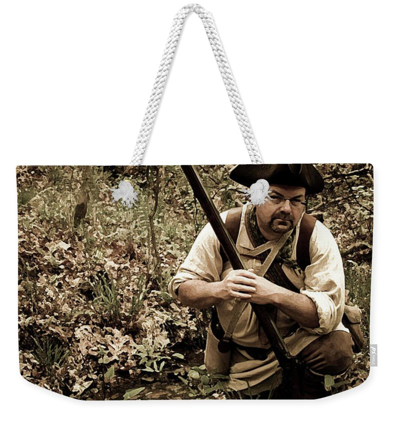 Reenactment Weekender Tote Bag featuring the digital art The Scout2 by Kim Henderson