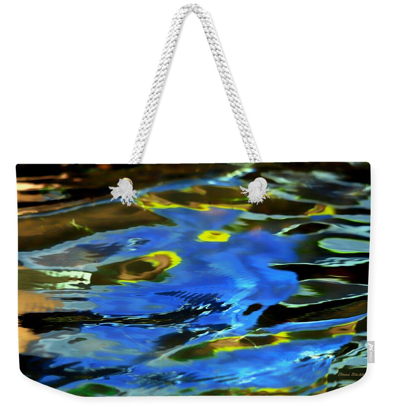 Abstract Water Weekender Tote Bag featuring the photograph The Scream by Donna Blackhall