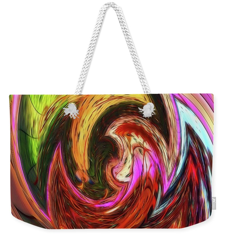 Abstract Weekender Tote Bag featuring the photograph The Scream by Sue Melvin