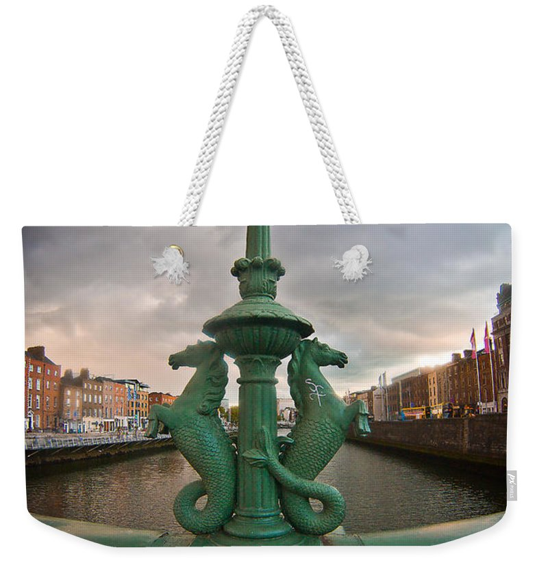 The Four Courts In Reconstruction Weekender Tote Bag featuring the photograph The Seahorses by Alex Art and Photo