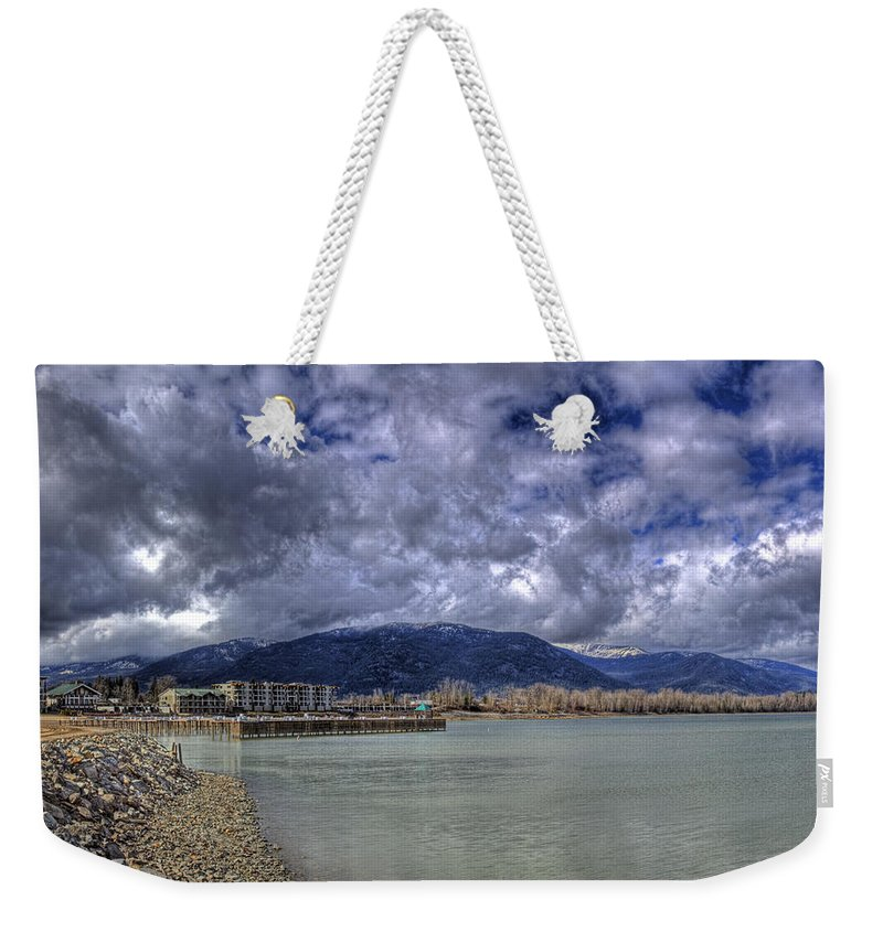 Lake Pend Oreille Weekender Tote Bag featuring the photograph The Seasons On Lake Pend Oreille by Lee Santa