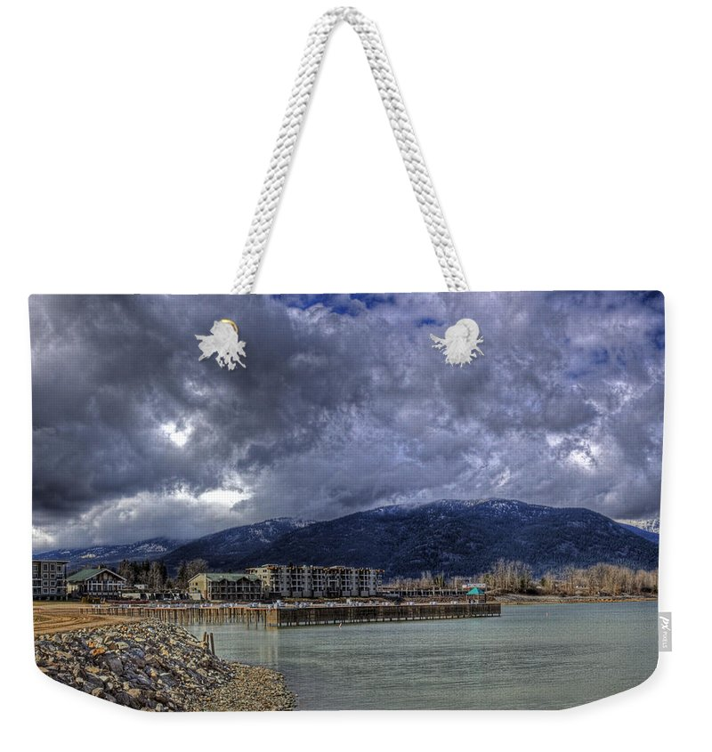 Landscape Weekender Tote Bag featuring the photograph The Seasons Sandpoint by Lee Santa