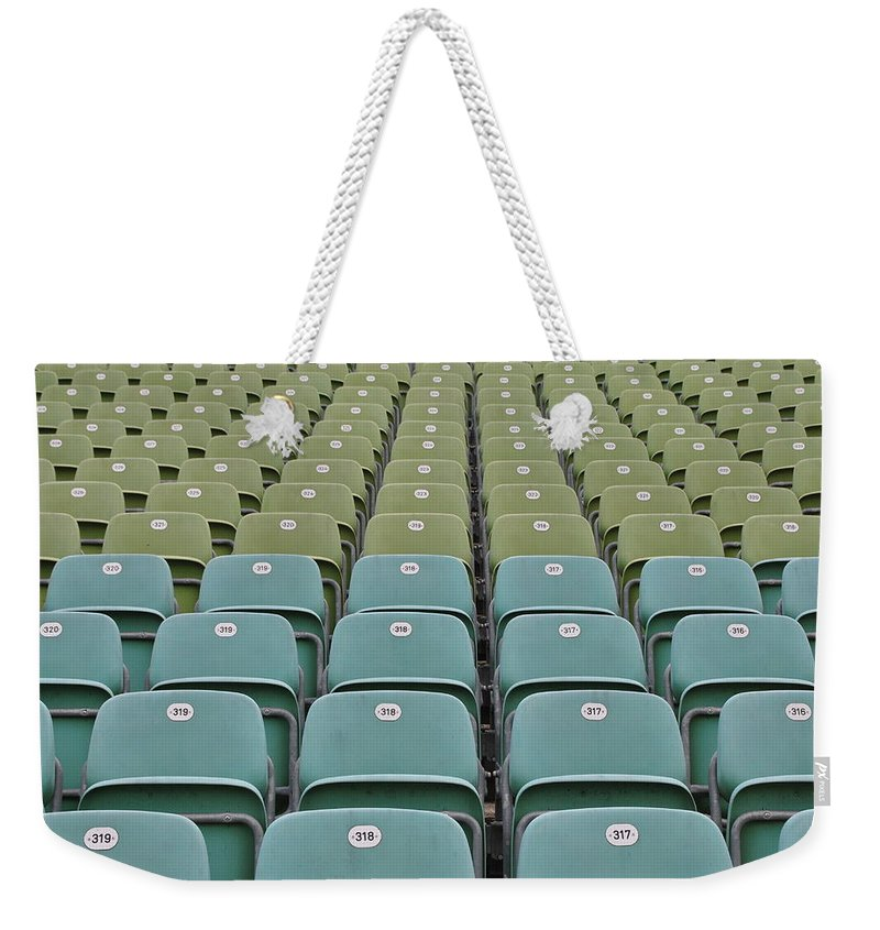 Seats Weekender Tote Bag featuring the photograph The Seats by Daria Seelig