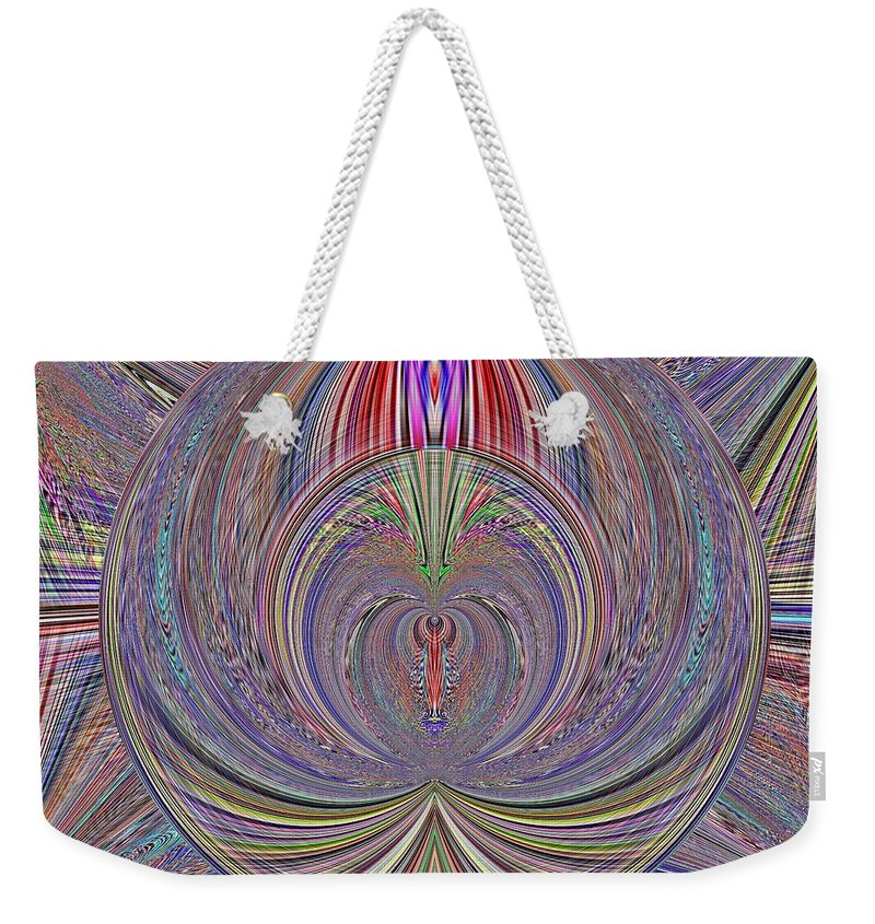 Abstract Weekender Tote Bag featuring the digital art The Secrets Beyond by Tim Allen
