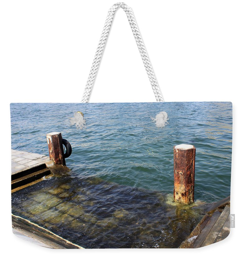 Sea Weekender Tote Bag featuring the photograph The Separation by Munir Alawi