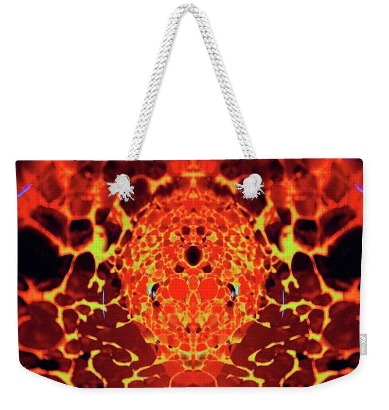Patterns Weekender Tote Bag featuring the photograph The Serpents Head by Tim G Ross