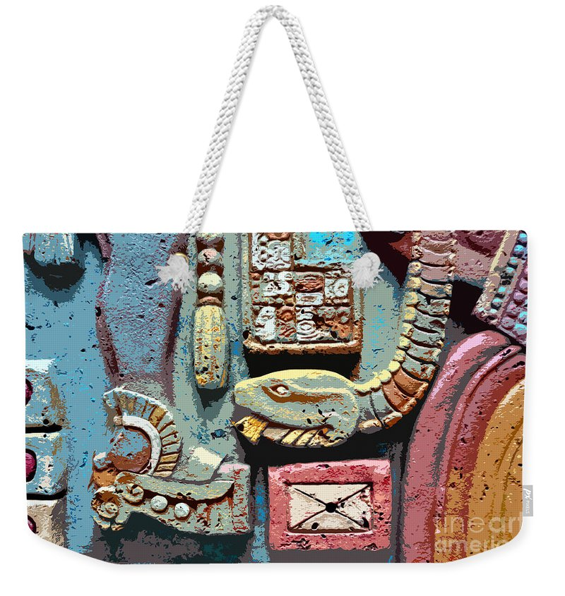 Snake Weekender Tote Bag featuring the painting The Serpent's Message by David Lee Thompson