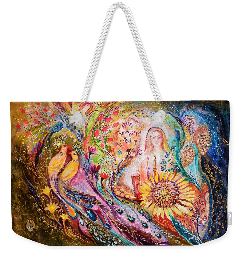 Original Weekender Tote Bag featuring the painting The Shabbat Queen by Elena Kotliarker