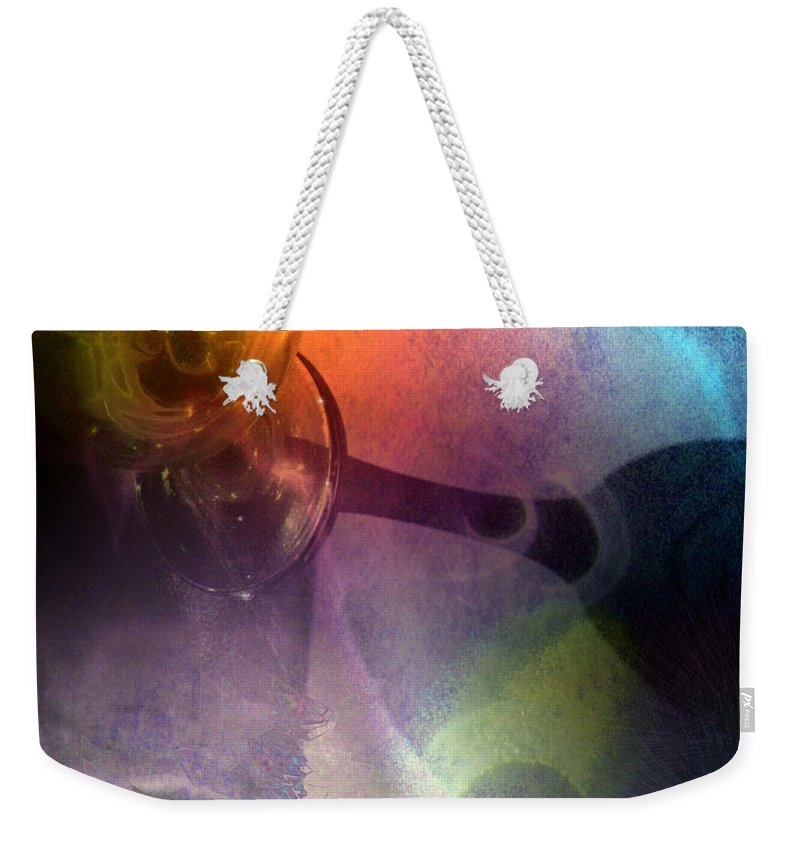 Fantasy Weekender Tote Bag featuring the painting The Shadow Of Your Smile by Miki De Goodaboom