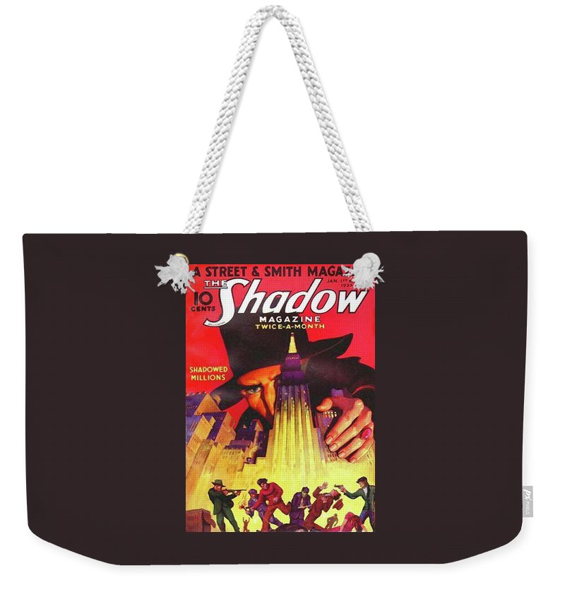 The Shadow Weekender Tote Bag featuring the painting The Shadow Shadowed Millions by Conde Nast