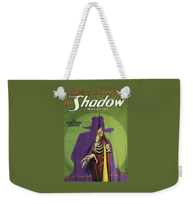 The Shadow Weekender Tote Bag featuring the painting The Shadow The Creeping Death by Conde Nast