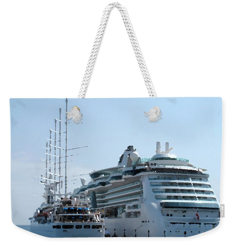 Wind Song Weekender Tote Bag featuring the photograph The Ships Are In by Ian MacDonald