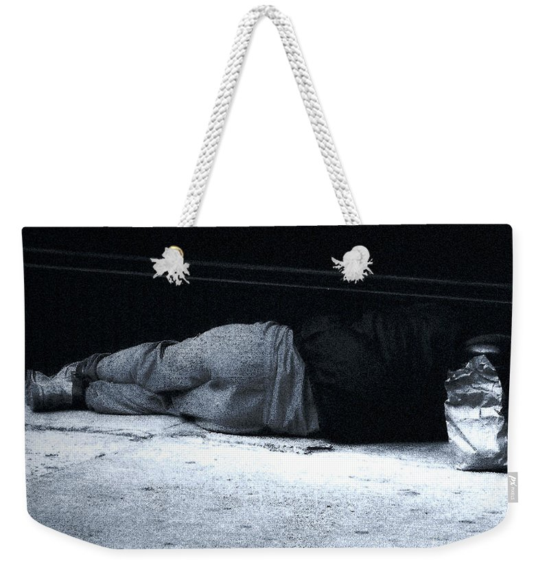 Homeless Weekender Tote Bag featuring the photograph The Sidewalks Of New York by RC DeWinter