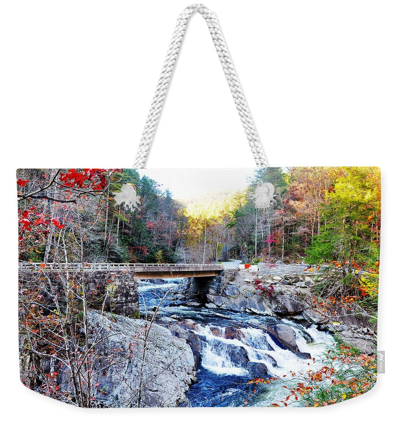 Smokey Mountain Weekender Tote Bag featuring the photograph The Sinks by Brittany Horton