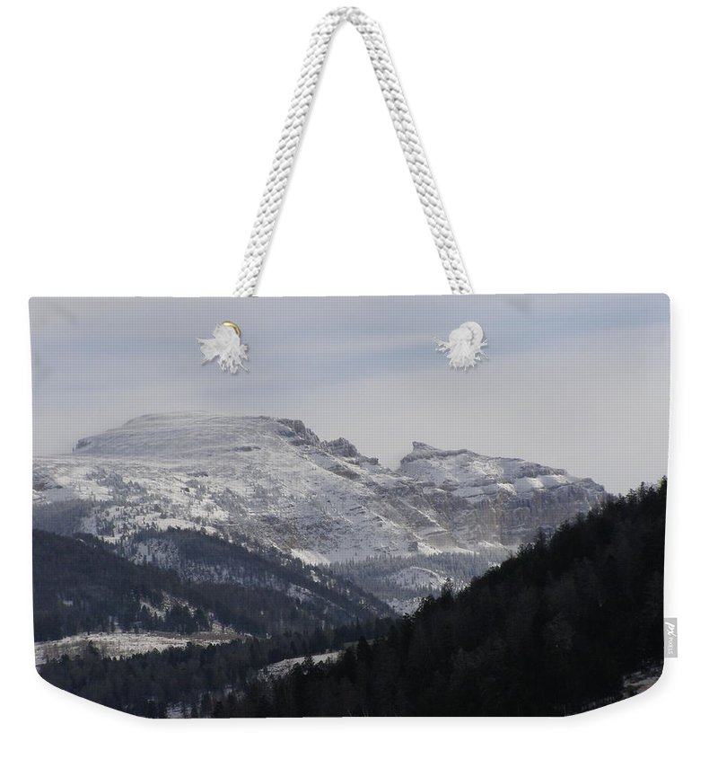 Mountian Weekender Tote Bag featuring the photograph The Sleeping Indian by DeeLon Merritt