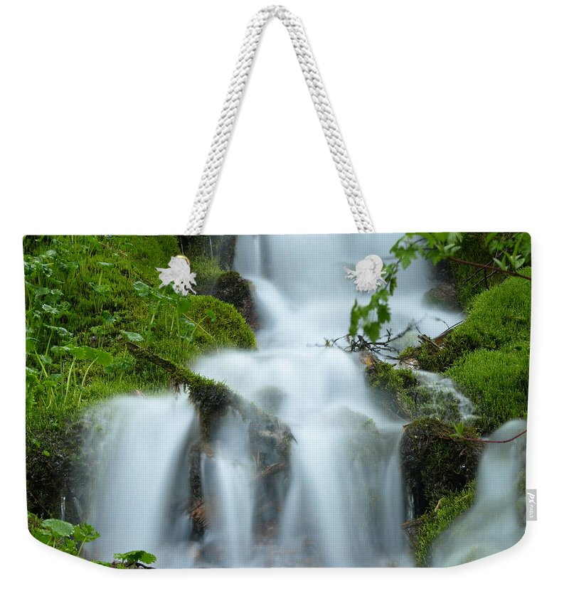 Water Weekender Tote Bag featuring the photograph The Slithering Mist by DeeLon Merritt