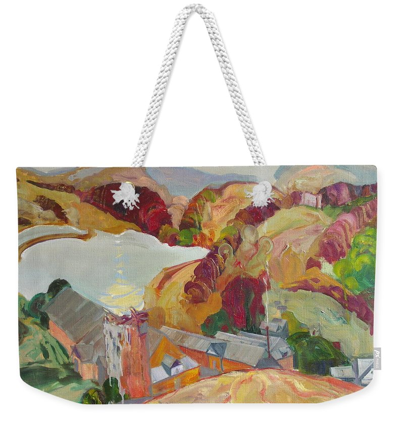Oil Weekender Tote Bag featuring the painting The Slovechansk Edge by Sergey Ignatenko